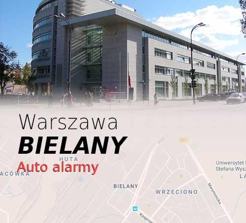 Warszawa Bielany autoalarmy